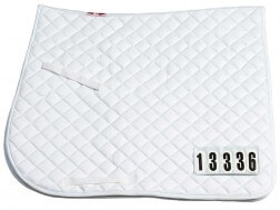 ZILCO COMPETITION DRESSAGE SADDLECLOTH WITH NUMBERS